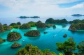 Raja Ampat in Indonesia is an equatorial archipelago of more than 1500 islands and shoals.