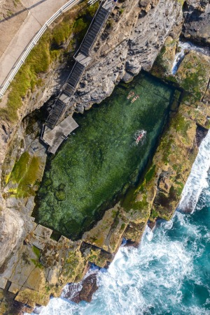 Convicts risked life and limb in 1819 to chisel out the private swimming hole from the exposed rock shelf.