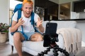 Travel vlogger Jorden Tually is back living with his parents but has turned his attention to becoming a star on TikTok.