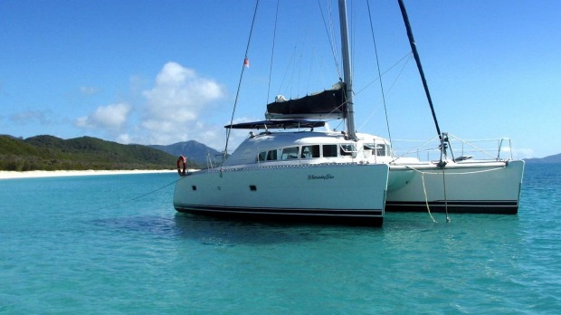 Whitsunday Blue is an intimate catamaran with a spacious, open foredeck, shaded back deck and plenty of indoor seating.