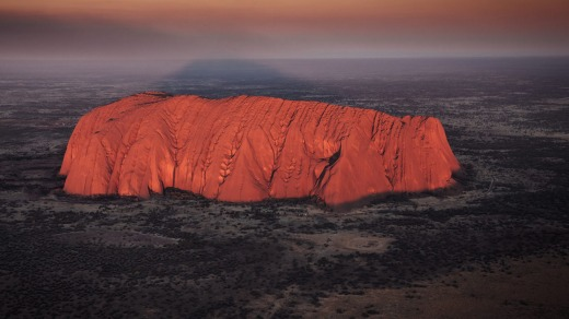 The flight will take in several iconic Australian sights, including Uluru in the red centre.