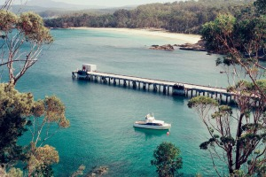 Above: secluded and peaceful Cattle Bay at Eden on the NSW Sapphire Coast.