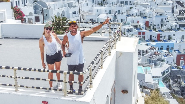 London-based Australians Mark and Mikaela Elbourne chased the sun to Greece and Italy during the European summer.