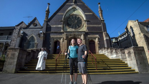Brent Clark had planned to pop the question in Spain. Instead, he did so at St James Church, Glebe.