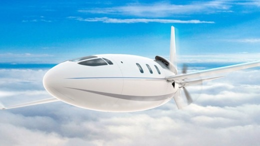 The prototype has no windows but the passenger version on the plane would feature them, Otto Aviation says.