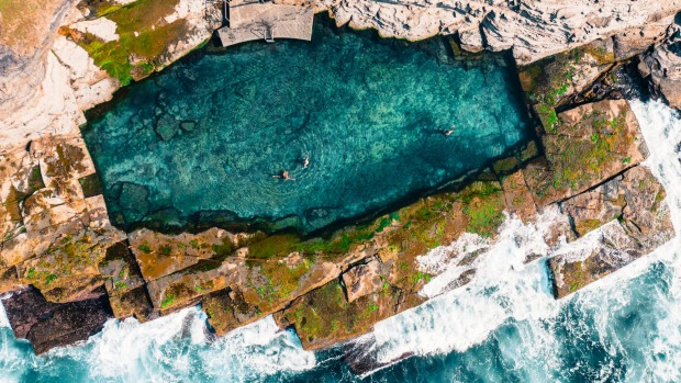 The little-known Bogey Hole one of the country's most spectacular sea baths.