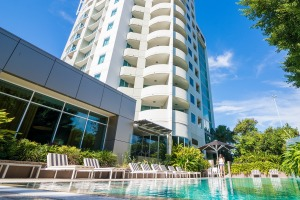 The Point Brisbane Hotel on the vibrant inner-city peninsula of Kangaroo Point.