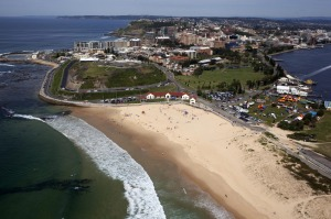 The six kilometre Bathers Way to Nobby's Beach (pictured) is a highlight.