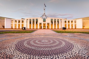 House of Parliament in Canberra.