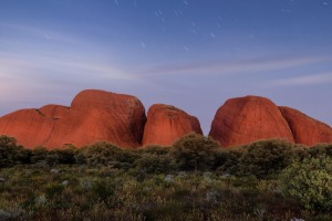 The rust-red domes of Kata Tjuta in the Red Centre.