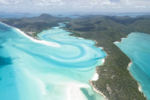 Famous for its stunning white sand beaches, the Whitsunday Islands, Queensland, Australia.