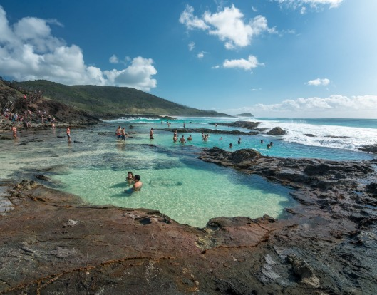 Champagne Pools, Fraser Island: Many visitors to UNESCO World Heritage-listed Fraser Island are familiar with the ...