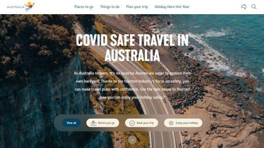 Tourism Australia has launched a web portal offering advice on how to travel safely during the pandemic.