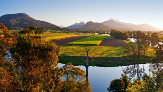 The Tweed is centred around Mt Warning and its surrounding national park.