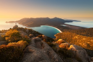 Wineglass Bay, one of the top 10 beaches in the world. It    s graced the cover of many a glossy brochure for good ...