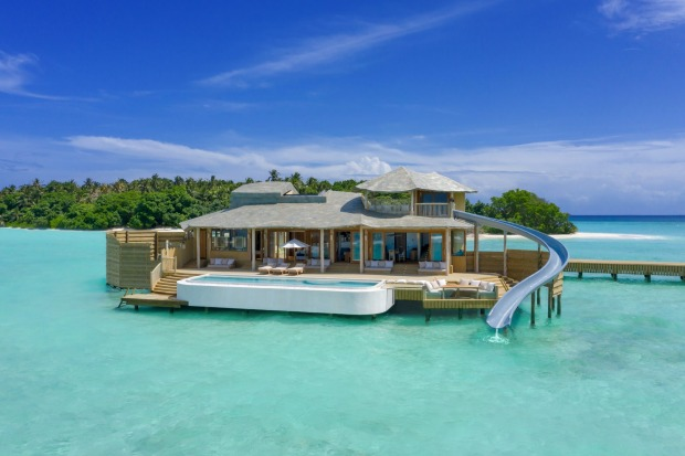 Soneva Fushi in the Baa Atoll has opened eight new overwater villas, said to be the world's largest.