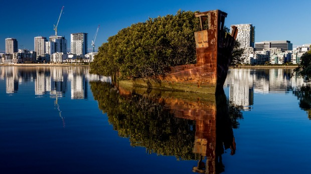 SS Ayrfield was sent to Homebush Bay's wrecking yards in 1972, but it never got wrecked after the price of scrap metal ...