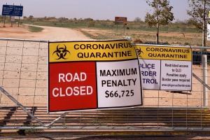 Queensland lies beyond: The lonely Cameron Corner border.