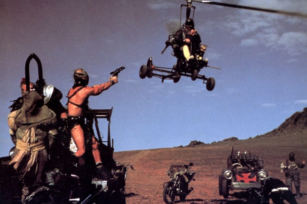 Scenes from Mad Max 2,  shot in the desert country around Broken Hill, NSW