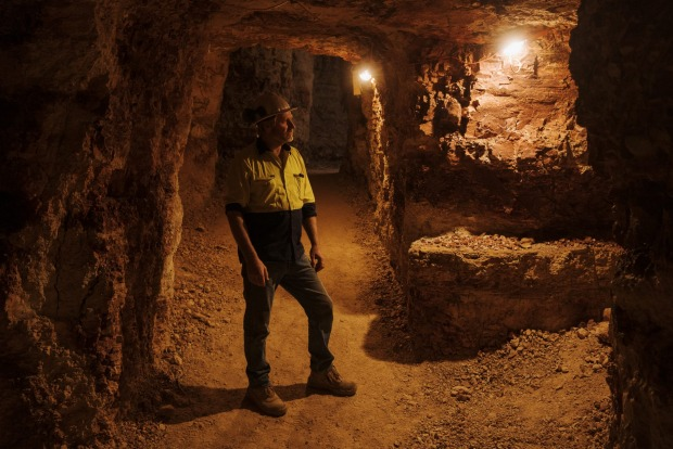 Graeme Dowton, an opal miner and tour operator with is company Red Earth Opal, in White Cliffs, New South Wales.