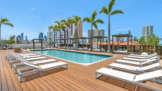 Relax by the pool at Qube Broadbeach.