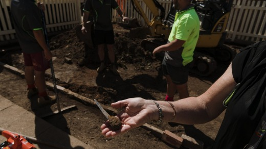 An old shiv found by builders while restoring a part of the gaol's yard.
