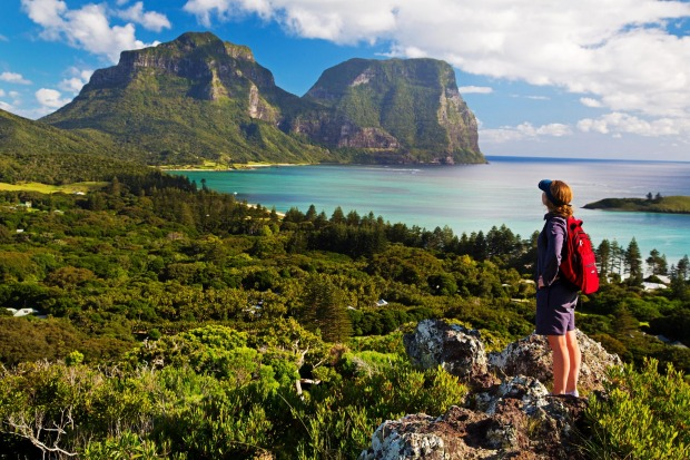 Hiking on Lord Howe, NSW. Lord Howe is a World Heritage-listed Island paradise where shoes are optional and the ...
