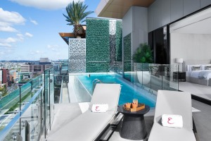 A 15-metre infinity pool on your private balcony is a highlight.