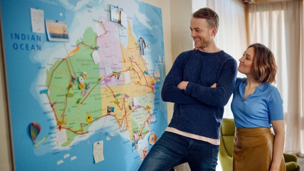 Australians are being encouraged to holiday within their own country this year by Hamish Blake and Zoe Foster in a ...