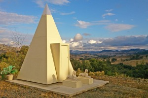 Atlantium's ceremonial pyramid – Australia's only walk-in pyramid.