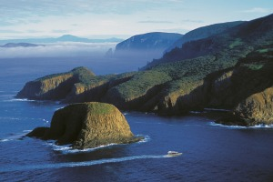 Bruny Island Cruises - sailing around The Friars off the coast of South Bruny.
