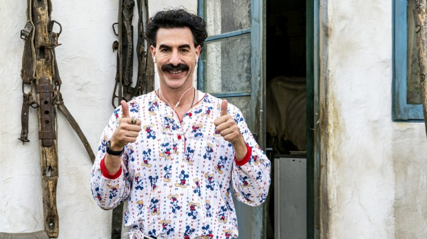 Sacha Baron Cohen in a scene from Borat Subsequent Moviefilm.