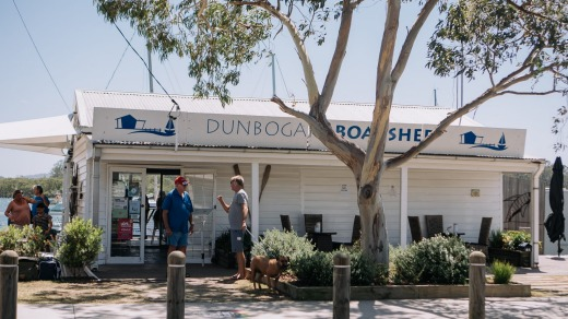 Dunbogan Boatshed, where owner Damien Lay, a former filmmaker, has plans to run champagne cruises and set up a crêpe caravan.