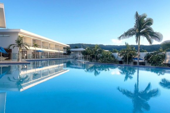 The vast lagoon pool at Pool Resort Port Douglas