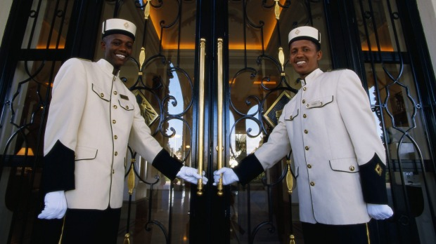 Doormen at a hotel in Addis Ababa, Ethiopia. One reader compares service in rural NSW and Queensland unfavorably with ...
