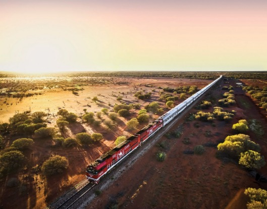 The Ghan enroute.