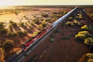 A 2979 kilometre trans-continental journey,  north to south: The Ghan.