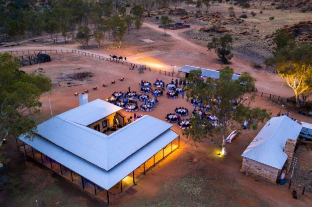 Dinner at the Old Telegraph Station, Alice Springs, and part of the Ghan experience.