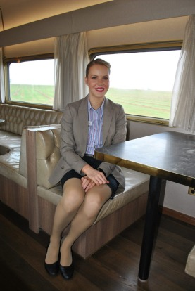 Stacey Chau, the Ghan's journey manager.