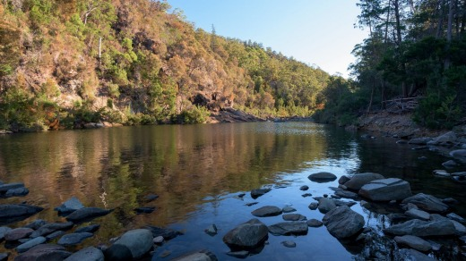Douglas-Apsley National Park covers an area of 16,080 hectares (39,735 acres).
