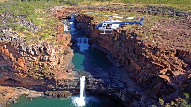 Flying over Mitchell Falls in the Kimberley with APT