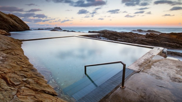 The Blue Pool in Bermagui.
