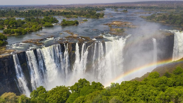Last trips: The mighty Victoria Falls, which sits on the border between Zambia and Zimbabwe.