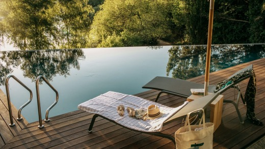 The infinity pool at Daylesford's Lake House.