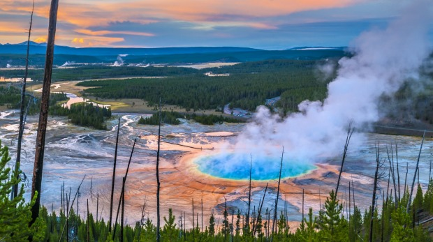 Grand Prismatic Spring: One of Yellowstone's greatest attractions.