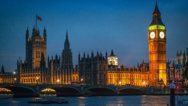 The Palace of Westminster and Westminster Abbey, with Viking Cruises.