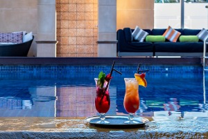 Poolside at the Duxton Hotel Perth.