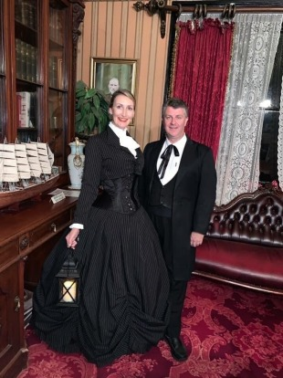 Lawrence Ryan and Silvia Heszterenyiova at Monte Cristo Homestead.