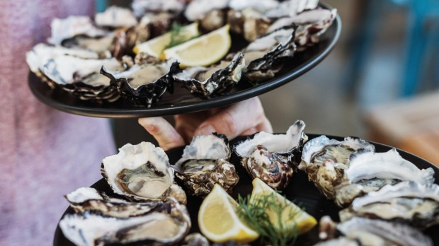 Get Shucked oysters at Great Bay on Bruny Island.