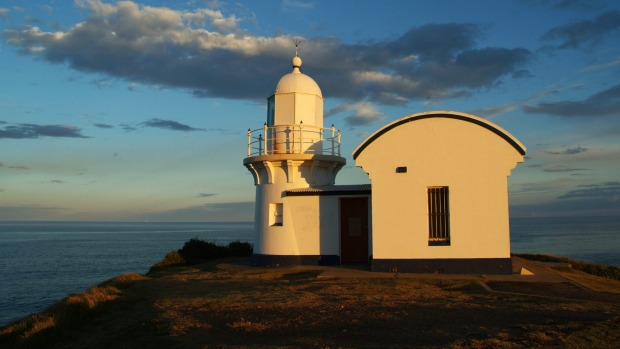 Historic lighthouse on Tacking Point near Port Macquarie.